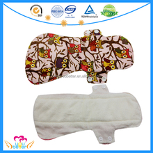 New Design Washable Cloth Panty Liner Recycled Cloth Sanitary Menstrual Pad