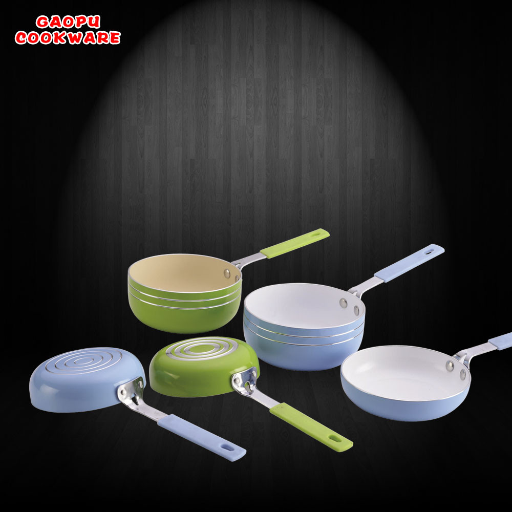 aluminium ceramic mini fry pan milk pan