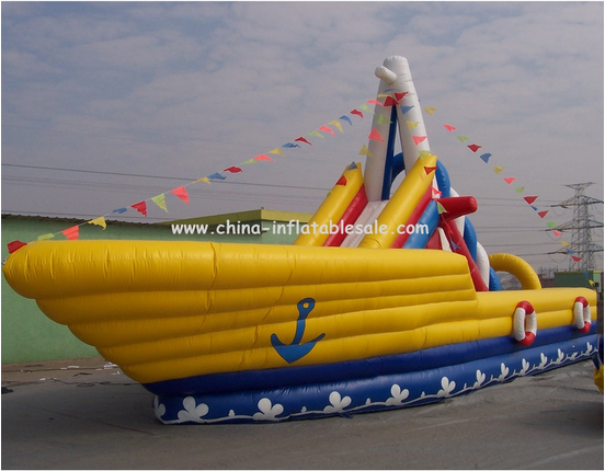 Giant inflatable warship Military Model