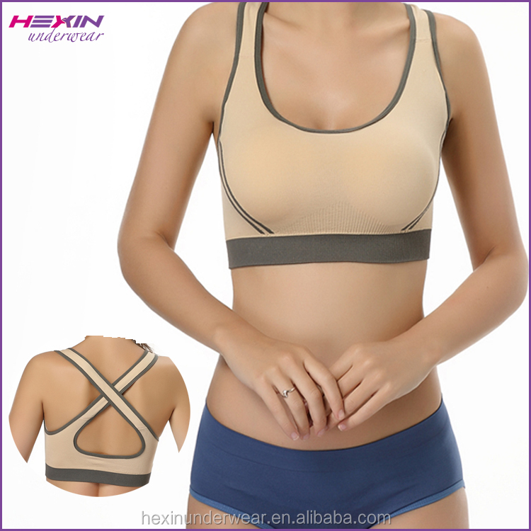2016 Ladies Yoga Vest With H Back Wide Strap Hot Sports Bra