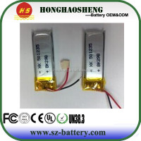 Factory price 3.7v recharge battery 170mah 3.7v battery 501235 lipo battery