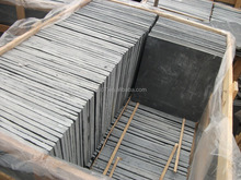 Good quality natural stone paving cheap black slate on promotion