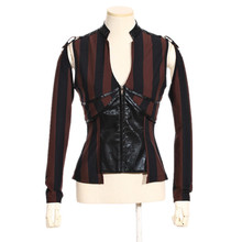 Steampunk Women Hollow Out Long Sleeve Deep V-neck Jacket Coat