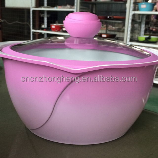 Best selling Rose design creamic 20cm casserole Y-TG1020