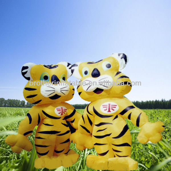 OEM Vivid Inflatable Tiger Cartoon