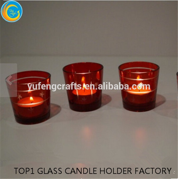 wholesale moroccan lanterns red carved glass candle holders wholesale with CE certificate