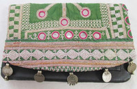 New 2015 INDIAN OLD COINS ANTIQUE OLD HANDMADE VINTAGE ZARI TRIBAL HIPPIE GYPSY CLUTCH BAG