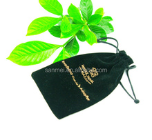 small velvet drawstring bags with logo jewelry/pocket money/phone/beads pouch velvet bag