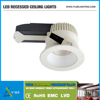 YJT-0001 high power PF0.9 10W IP20 recessed ceiling LED light landscape lamps