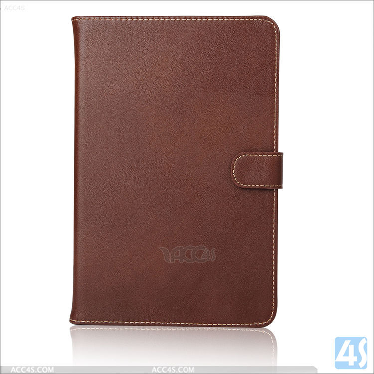 Back stand PU wallet leather case for Ipad mini 4