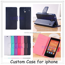New Arrival Wallet PU Leather Case Flip Cover Built in Card Slots Holder Stand funda de for iphone 6 / 6 Plus / 4 /4S/5/5S/5C/3G