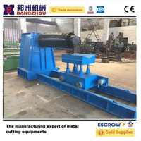 Manual uncoiling machine for metail coil