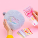 moon embroidered plush shell makeup bag cosmetic girl ins clutch make up bag