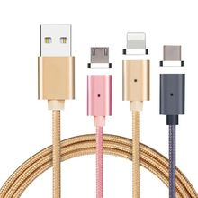 2017 Trending Products 2.4A Magnetic USB Cable 2 in 1 with Type C