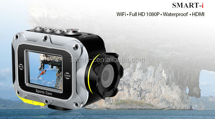 Full HD 1080P Waterproof Sports Camera, Helmet Action Mini Video Camera