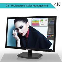 Hot 28 inch tft lcd 4K led computer monitor with VGA input 3840*2160 pixel, factory quality and price