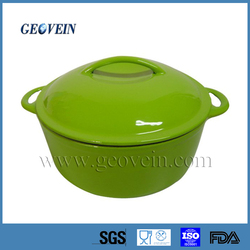 Cast iron porcelain enamel cookware/casserole pot