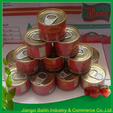 easy open tin lid pasta de tomate 210g 28-30%