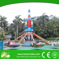 Girls and Animals Sexy Kids Outdoor Playground Self Control Plane Funfair Rides for Sale