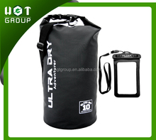 Premium Waterproof Bag, Sack with phone dry bag and Long Adjustable Shoulder Strap Included for Kayaking / Boating / Camping