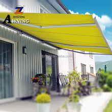 Hot selling luxurious outdoor waterproof UV protection used aluminum half cassette retractable balcony roof awnings ZH6500