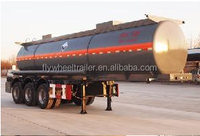 China Supplier hot sale 3Axle HCL tank plastic- lined steel chemical liquid tank semi trailer for NaOH