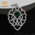 925 Sterling silver green emerald handmade pear shape Pendant
