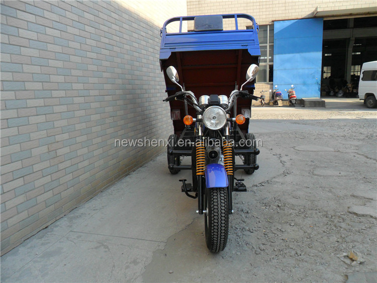 Big Power High Quality Gas Petrol EEC Three Wheel Motorcycle China Cargo Tricycle