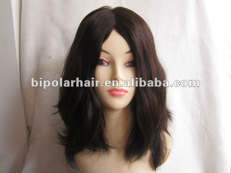 "18"" Grade AAA virgin european full man made jewish wig"