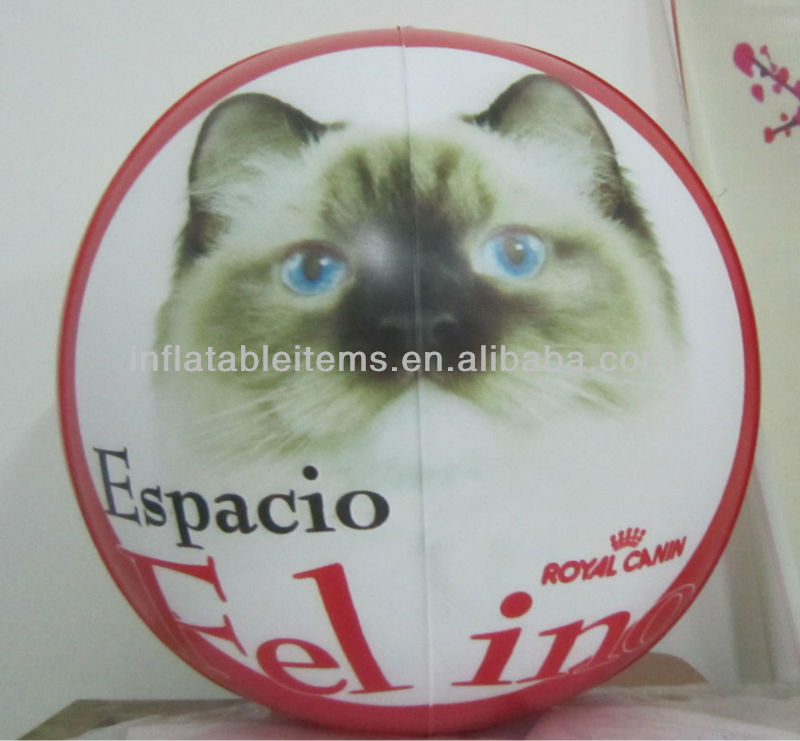 PVC inflatable beach ball with animal logo