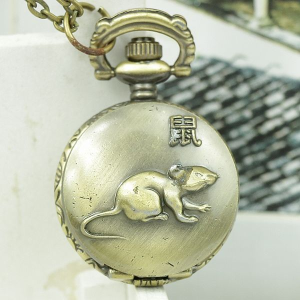 Wholesale Classic Antique Cheap pocket watch with dragon