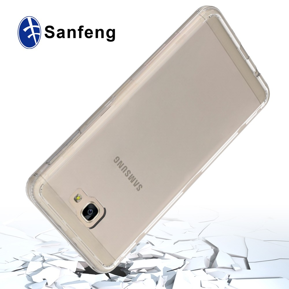 Mobile Accessories 2 in 1 TPU Bumper + Hard Plastic Acrylic Back Cover Case for Samsung On7 (2016) /G610/G6100/