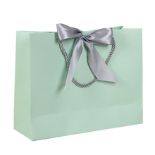New wedding festival color hand gift packing card paper bag with bow tie ribbon