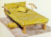 Ordinary two folded wood slatted chaie bed frame