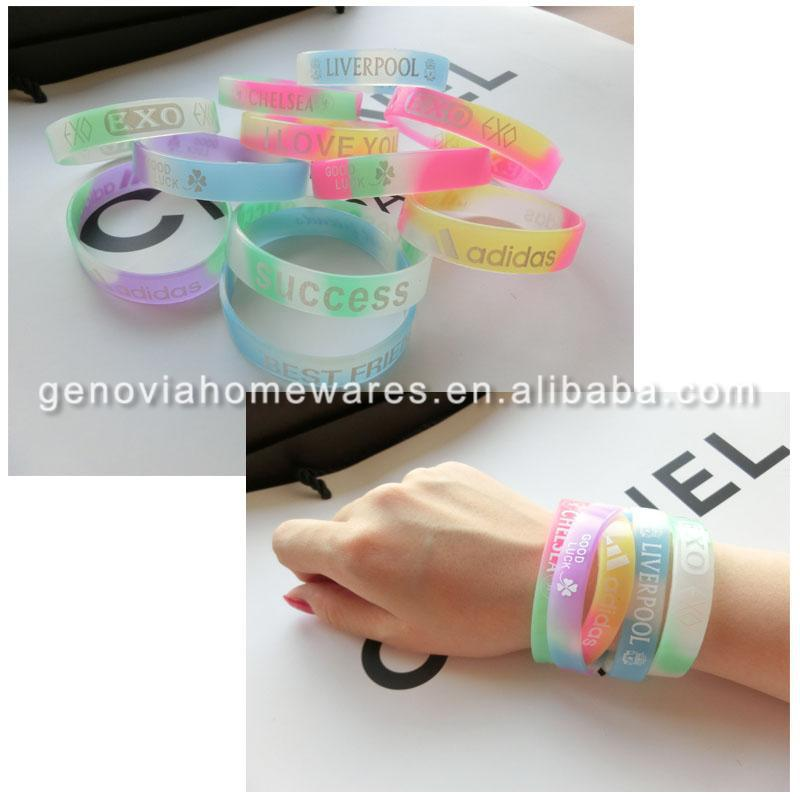 Hot selling kids silica gel wristbands with high quality