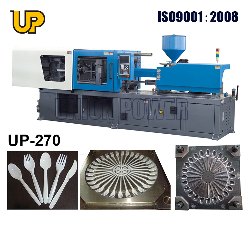 plastic injection machine 270 ton for fork and spoon