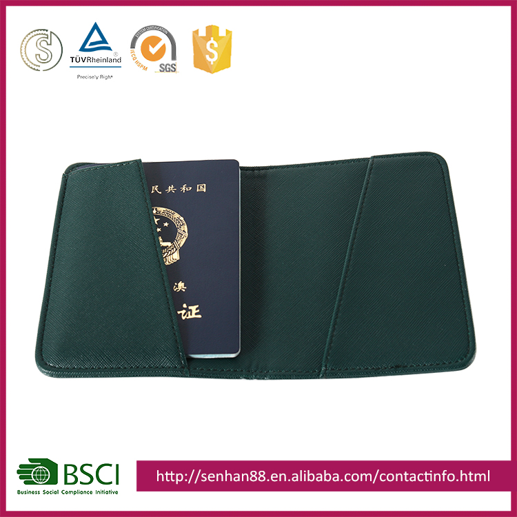 hot selling customized color credit card holder pvc smart card persoanlized Passport Holder wallet