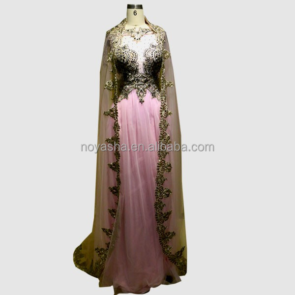 Arabian design Two Piece muslim Dress women Long Evening Dresses in Turkey 2016