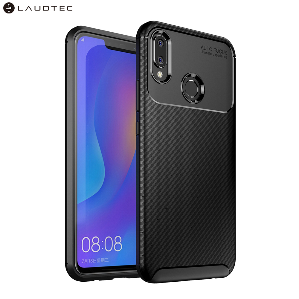Laudtec Shockproof New Carbon Fiber Soft Tpu Back Cover Phone Case For Huawei Nova 3i/ <strong>P</strong> Smart Plus
