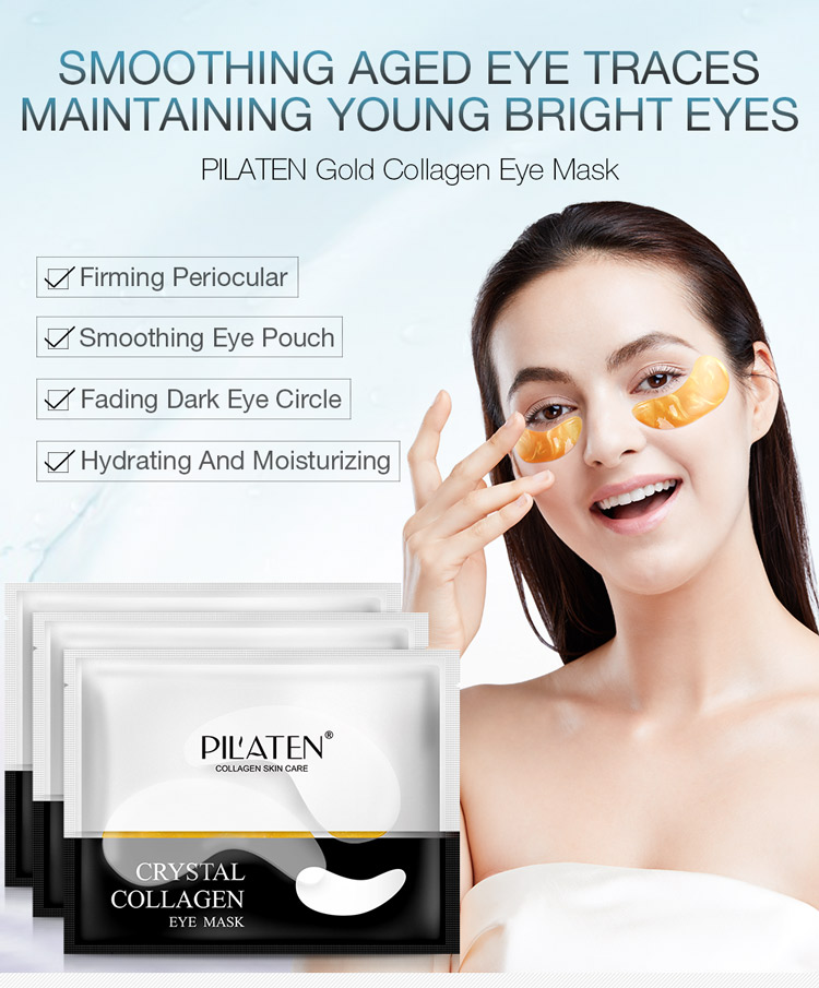 Pilaten Collagen Sleeping Eye Mask with Cool Gel Inserts Eye Patch for Cosmetic Beauty Products