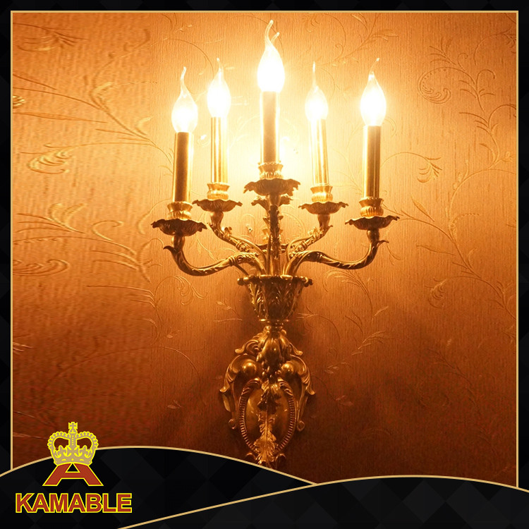 High-end gold plating wall bracket light fitting