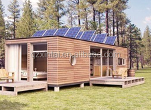 Wooden movable green container house with wheel design transport container home for sale in China