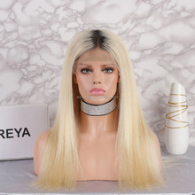 Milky way hair 100% brazilian Hair blonde wig lace front