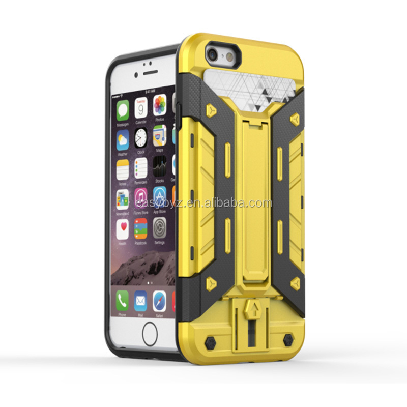 New products kickstand hybrid tpu pc cell phone case for iphone 5 6 6 plus combo case