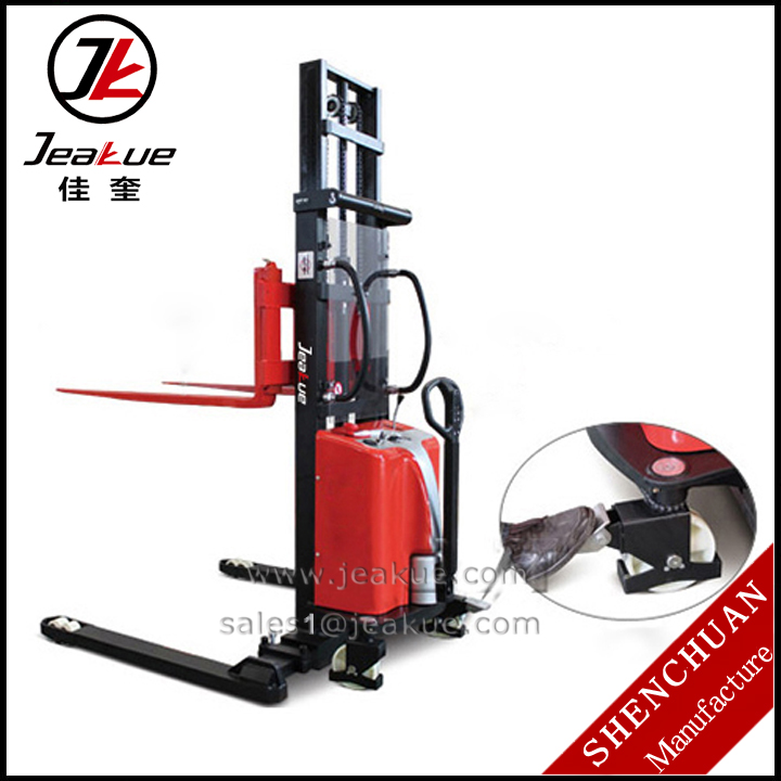 2015 Newest 1.0T Straddle Semi-electric Stacker Lifting Height 1.6-3.0mm