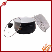 Hot selling aluminum turkey chips frying pot