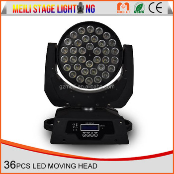 Factory 36*10w Rgbw Led Zoom Wash Moving Head Club For Sale China ...