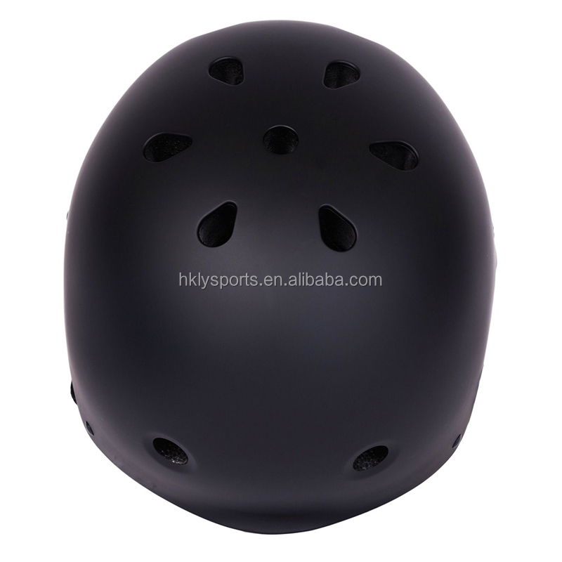 CE CPSC approved protective customized ABS matte black bicycle skating helmets