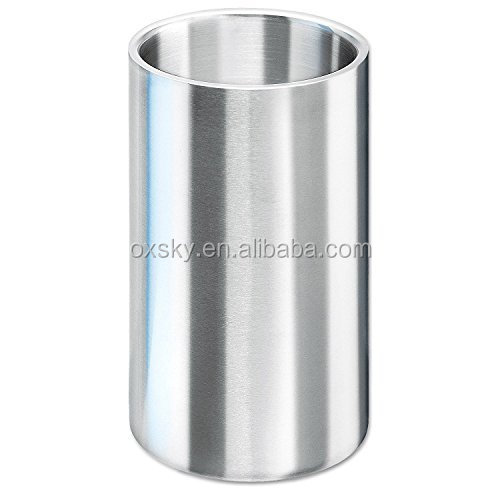 BPA free Double Wall 18/8 Stainless Steel wine cooler Ice Bucket with Matt Brushed Surface