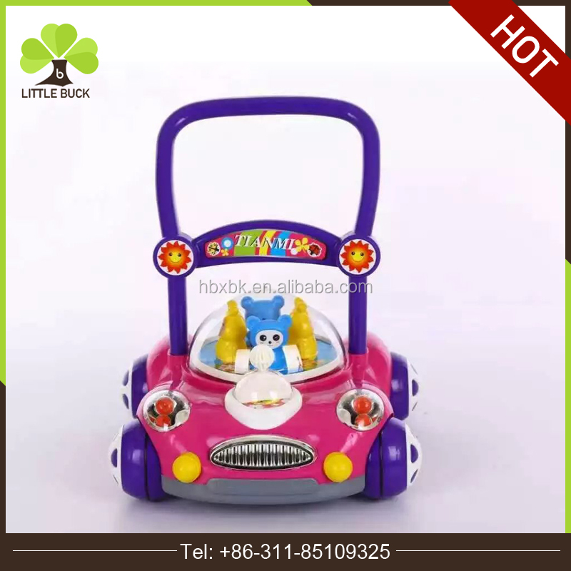 China baby walker factory directly sell Fancy pusher baby walker car shape